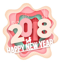new year paper art vector image