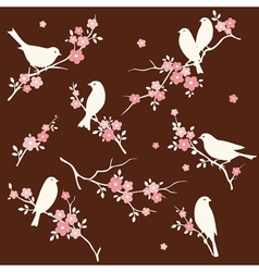 Bird and twig set vector