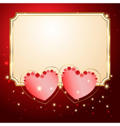 Postcard with hearts vector