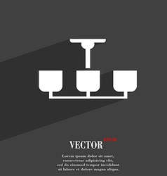 Chandelier light lamp icon symbol flat modern web vector