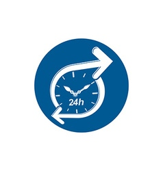 Graphic web 24 hours timer around-the-clock vector