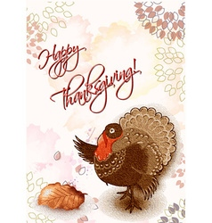Happy thanksgiving day with turkey vector