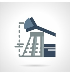 Flat icon for oil industry vector