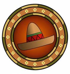mexican sombrero logo vector image