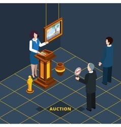 Isometric auction process abstract vector