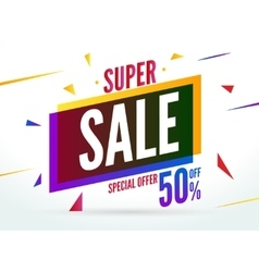 Super sale special offer 50 off discount baner vector