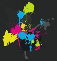 Paint splatters vector
