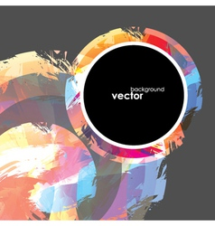 Abstract brush background vector