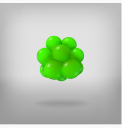 Abstract molecule atoms 3d vector