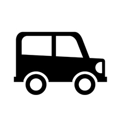 Car drawing isolated icon vector