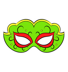 Carnival mask icon cartoon vector