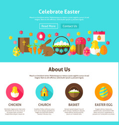 Celebrate easter web design vector
