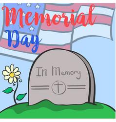 Collection design memorial day colorful design vector
