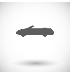 Convertible top down vector