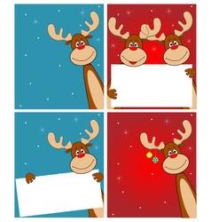 Deer Rudolph vector image