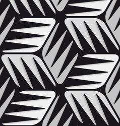 Gray 3d cubes striped with black seamless pattern vector