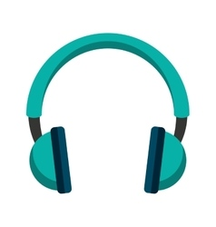 headset speaker audio icon vector image