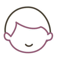 Little baby boy character vector