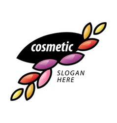 logo of the petals for cosmetics vector image vector image