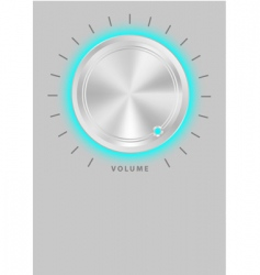 metallic volume knob vector image