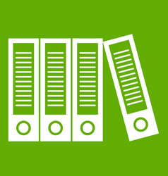 Office folders icon green vector