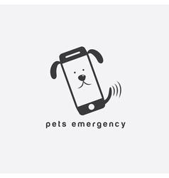 Pets emergency concept flat design vector