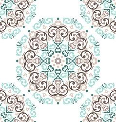 seamless baroque damask luxury background vector image vector image