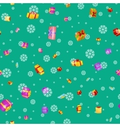 seamless pattern gift box for holiday presents vector image vector image