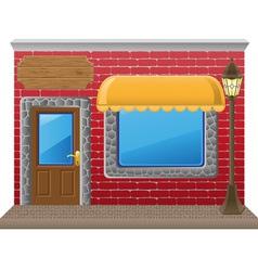shop facade 02 vector image