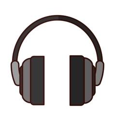 Single headphones icon image vector
