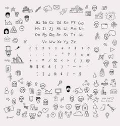 sketchnote design kit vector image
