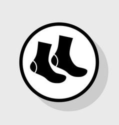 Socks sign flat black icon in white vector