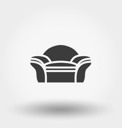 Soft chair line icon vector