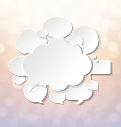 Speech Bubbles With Blur And Bokeh vector image vector image