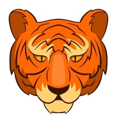 Tiger head icon cartoon style vector image