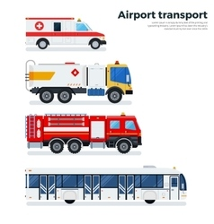 Types of airport transport isolated on white vector