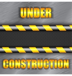Under construction background with copy space vector image vector image