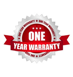 1 year warranty button vector