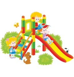Slide in a park vector