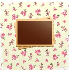 Photo cards on shabby chic background vector image
