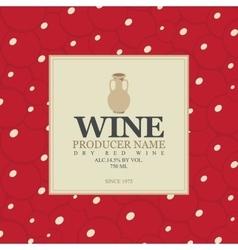 wine label with a clay jug vector image