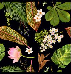 Tropial plants pattern vector