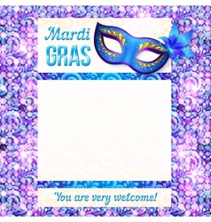 Mardi gras carnival poster template vector image