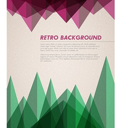 grunge retro background template vector image