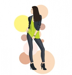fashion girl model vector