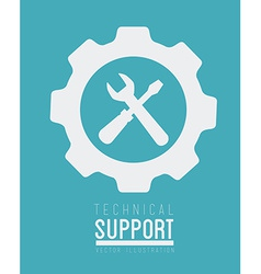 Technical support design vector