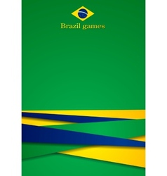 Background in brazilian colors vector