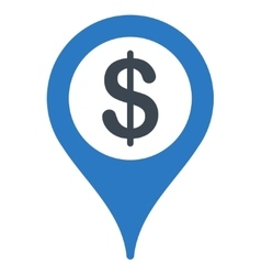 Bank location icon vector