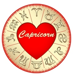 Zodiac sign capricorn for lovers on valentine vector