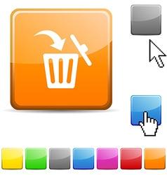 Delete glossy button vector image